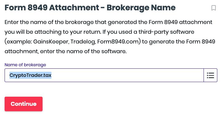tax form 8949 brokerage name