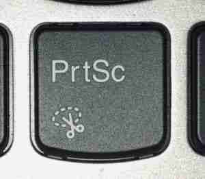 Capture screenshot with print screen key in windows